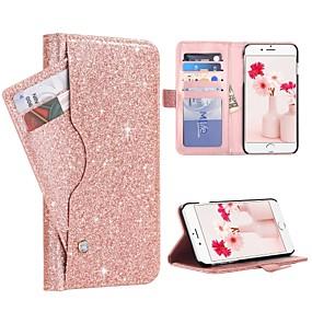 abordables Coques d'iPhone-BENTOBEN Coque Pour Apple iPhone 8 Plus / iPhone 7 Plus Porte Carte / Antichoc / Clapet Coque Intégrale Brillant Dur faux cuir / PC pour iPhone 8 Plus / iPhone 7 Plus