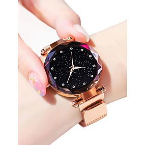 billige 10 % RABAT-Dame Armbåndsur guld ur Quartz Sort / Blåt / Lilla 30 m Vandafvisende Imiteret Diamant Analog Damer Glitrende Mode Astronomisk - Lilla Blå Rose Guld