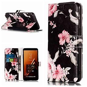 voordelige Galaxy A5(2016) Hoesjes / covers-hoesje Voor Samsung Galaxy A3 (2017) / A5 (2017) / A8 2018 Portemonnee / Kaarthouder / met standaard Volledig hoesje Bloem Hard PU-nahka