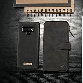 abordables CaseMe®-CaseMe Coque Pour Samsung Galaxy Note 9 Portefeuille / Porte Carte / Avec Support Coque Intégrale Couleur Pleine Dur faux cuir pour Note 9