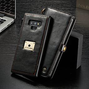 abordables CaseMe®-CaseMe Coque Pour Samsung Galaxy Note 9 Portefeuille / Porte Carte / Clapet Coque Intégrale Couleur Pleine Dur faux cuir pour Note 9