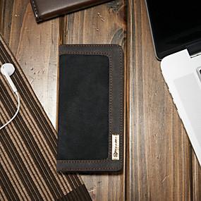 voordelige Galaxy S7 Edge Hoesjes / covers-hoesje Voor Samsung Galaxy S7 edge Portemonnee / Kaarthouder / met standaard Volledig hoesje Effen Hard tekstiili