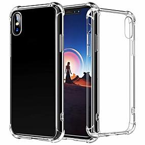 olcso iPhone tokok-CaseMe Case Kompatibilitás Apple iPhone XR / iPhone XS Max Ütésálló Fekete tok Egyszínű Puha TPU mert iPhone XS / iPhone XR / iPhone XS Max