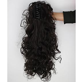 זול איפור וטיפול בציפורניים-קוקו חתיכת שיער מתולתל קלאסי שיער סינטטי 18 אינץ' הַאֲרָכַת שֵׂעָר יומי