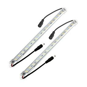 billige Lysstænger-zdm® 2 x 50cm 8520 smd høj lysstyrke led hard lamp gennemsigtig maske dobbelt-ended dc5.5 stik