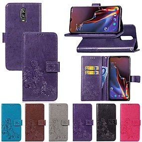 cheap Oneplus 3T-Case For OnePlus OnePlus 6 / One Plus 6T Card Holder / with Stand / Flip Full Body Cases Solid Colored / Butterfly Hard Textile for OnePlus 6 / One Plus 6T / One Plus 5