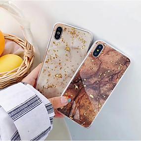 abordables Coques pour iPhone X-cas pour apple iphone xr xs xs max imd couverture arrière marbre soft tpu pour iphone x 8 8 plus 7 7plus 6s 6s plus se 5 5s