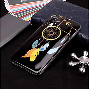 olcso iPhone tokok-Case Kompatibilitás Apple iPhone XR / iPhone XS Max Foszforeszkáló / Minta Fekete tok Álomfogó / Tollak Puha TPU mert iPhone XS / iPhone XR / iPhone XS Max
