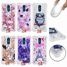 billige LG-Etui Til LG LG Stylo 4 / G7 Stødsikker / Flydende væske / Transparent Bagcover Ugle / Drømme fanger / Glitterskin Blødt TPU for LG Q Stylus / LG V40 / LG V30