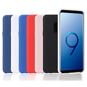 halpa Galaxy S -sarjan kotelot / kuoret-Etui Käyttötarkoitus Samsung Galaxy S9 Plus / S9 Himmeä Takakuori Yhtenäinen Pehmeä Silikoni varten S9 / S9 Plus / S8 Plus