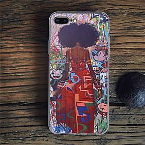 olcso iPhone 7 Plus tokok-Case Kompatibilitás Apple iPhone XR / iPhone XS Max Minta Fekete tok Szexi lány Puha TPU mert iPhone XS / iPhone XR / iPhone XS Max