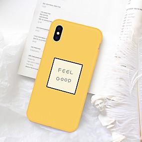 billige Cool & Fashion Cases til iPhone-tilfælde til Apple iPhone xr xs xs max mønster bagcover ord / sætning soft tpu til iPhone xs / iphone xr / iphone xs max