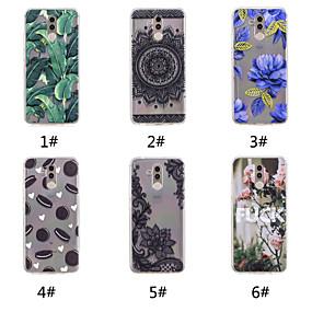 voordelige Huawei Honor hoesjes / covers-hoesje Voor Huawei Huawei Nova 3i / Huawei P20 / Huawei P20 Pro Patroon Achterkant Voedsel / Woord / tekst / Lace Printing Zacht TPU / P10 Plus / P10 Lite / P10