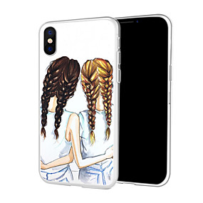 abordables Coques d'iPhone-Coque Pour Apple iPhone XR / iPhone XS Max Motif Coque Femme Sexy / Bande dessinée Flexible TPU pour iPhone XS / iPhone XR / iPhone XS Max