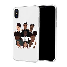 olcso iPhone 7 Plus tokok-Case Kompatibilitás Apple iPhone XR / iPhone XS Max Minta Fekete tok Szexi lány / Rajzfilm Puha TPU mert iPhone XS / iPhone XR / iPhone XS Max