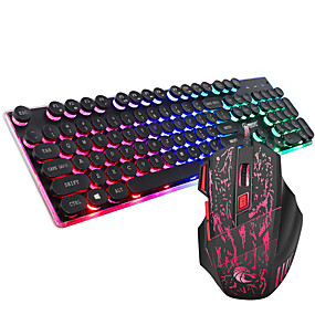 """economico Mouse e Tastiere-ZERODATE J40 USB cablato Tastiera del mouse combinata Romantico / Fantasia """"Cartone 3D"""" / Fantastico tastiera ufficio Gaming mouse / topo ufficio 5500 dpi"""