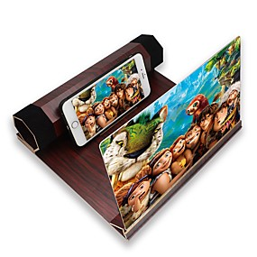economico Accessori universali per iPhone-Supporto per amplificatore per schermo magnifier da tavolo in legno da 12 pollici