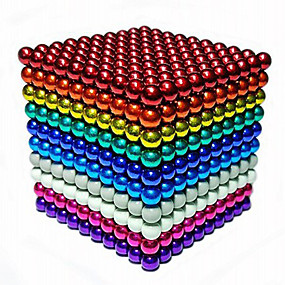 abordables Juguetes Novedosos-1000 pcs 3mm Juguetes Magnéticos Bolas magnéticas Bloques de Construcción Imanes magnéticos superfuertes Imán de Neodimio Imán de Neodimio Alivio del estrés y la ansiedad Juguetes de oficina