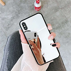 billige 10 % RABATT og mer-Etui Til Apple iPhone XR / iPhone XS Max Speil Bakdeksel Ensfarget Hard Akryl til iPhone XS / iPhone XR / iPhone XS Max