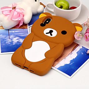 halpa iPhone 8 kotelot-Etui Käyttötarkoitus Apple iPhone X / iPhone XS Max Kuvio Takakuori 3D sarjakuva / Panda Pehmeä Silikoni varten iPhone XS / iPhone XR / iPhone XS Max