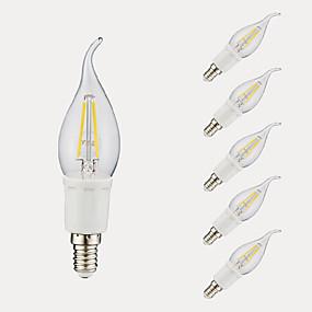 Χαμηλού Κόστους Λαμπτήρες LED με νήμα πυράκτωσης-6pcs gmy c35l οδήγησε λαμπτήρα πυρακτώσεως 3w οδήγησε λαμπτήρα κηροπήγιο με βάση e12 6500k2700k για υπνοδωμάτιο καθιστικό σπίτι καφέ διακοσμητικά