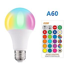 economico Lampadine LED intelligenti-1pc 5 W Lampadine LED smart 350 lm E26 / E27 A60(A19) 3 Perline LED SMD 5050 Smart Oscurabile Feste RGBW 85-265 V / RoHs