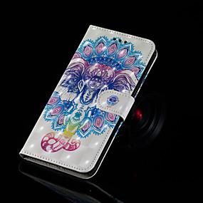 voordelige Galaxy S7 Edge Hoesjes / covers-hoesje Voor Samsung Galaxy S9 / S9 Plus / S8 Plus Portemonnee / Kaarthouder / met standaard Volledig hoesje Olifant Hard PU-nahka
