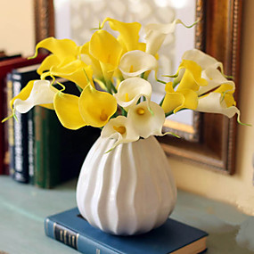 preiswerte Künstliche Blumen-Künstliche Blumen 10 Ast Klassisch Europäisch Simple Style Calla-Lilien Tisch-Blumen