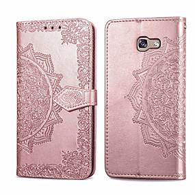 voordelige Galaxy A3(2016) Hoesjes / covers-hoesje Voor Samsung Galaxy A3(2016) Kaarthouder / Flip Volledig hoesje Effen Zacht PU-nahka