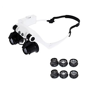 billige 30 % RABAT-10x 15x 20x 25x slid briller øjne belyst forstørrelses forstørrelsesglas ur reparere loupe med led lys