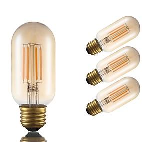 Χαμηλού Κόστους Λαμπτήρες LED με νήμα πυράκτωσης-4pcs gmy t45 σωληνωτό λαμπτήρα πυρακτώσεως 3.5w οδήγησε edison λαμπτήρα ισοδύναμο 28w με βάση e26 2200k ζεστό λευκό για υπνοδωμάτιο καθιστικό σπίτι καφέ διακοσμητικά