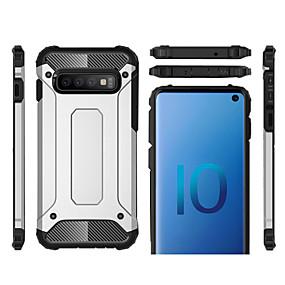halpa Galaxy S -sarjan kotelot / kuoret-Etui Käyttötarkoitus Samsung Galaxy Galaxy S10 / Galaxy S10 Plus Iskunkestävä Takakuori Panssari Kova Muovi varten S9 / S9 Plus / Galaxy S10
