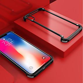tanie Etui do iPhone-oatsbasf Kılıf Na Jabłko iPhone XS Max Odporny na wstrząsy / Matowa / Zrób to Sam Ramka ochronna Solidne kolory Twardość Aluminium na iPhone XS Max