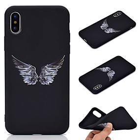 olcso iPhone tokok-Case Kompatibilitás Apple iPhone XR / iPhone XS Max Jeges / Minta Fekete tok Tollak Puha TPU mert iPhone XS / iPhone XR / iPhone XS Max