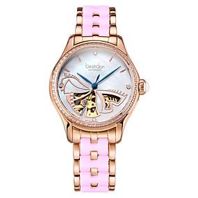 159252b88cce abordables Relojes Automáticos Mujer-Best don Mujer Reloj Esqueleto El  reloj mecánico Relojes de Oro