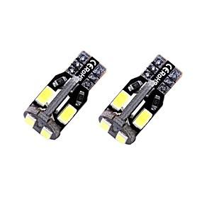 billige Nummerpladelys-2pcs T10 / W5W Bil Elpærer 1.35 W SMD 5730 10 LED Nummerpladelys / Indvendige Lights / Side Marker Lights Til Universel Alle år