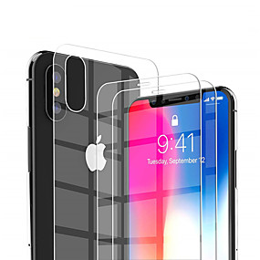 voordelige iPhone XR screenprotectors-Screenprotector voor Apple iPhone XS / iPhone XR / iPhone XS Max Gehard Glas 2 pcts Voorkant screenprotector High-Definition (HD) / 9H-hardheid / Explosieveilige