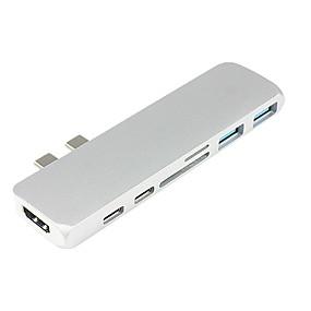 お買い得  USB ハブ & スイッチ-USB 3.1タイプC to HDMI 2.0 / USB 3.0 / USB 3.1タイプC USBハブ 7 ポート データホールド
