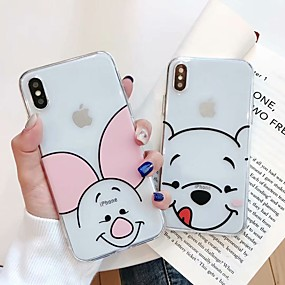 olcso iPhone tokok-Case Kompatibilitás Apple iPhone XS Max / iPhone 6 Minta Fekete tok Rajzfilm Puha TPU mert iPhone XS / iPhone XR / iPhone XS Max