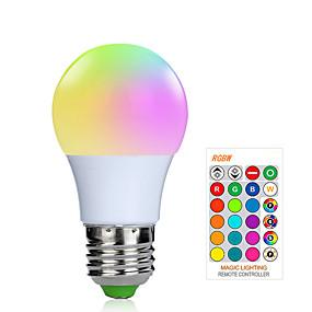 billige LED-smartpærer-1pc 3 W Smart LED-lampe 200-250 lm E26 / E27 1 LED Perler SMD 5050 Smart Dæmpbar Fjernstyret RGBW 85-265 V / RoHs / FCC