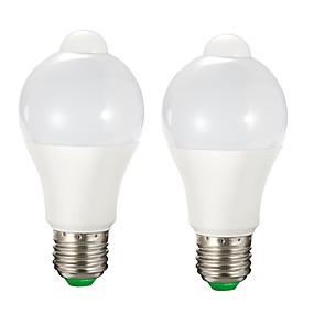 levne LED Smart žárovky-2pcs 9 W LED chytré žárovky 750 lm E26 / E27 A60(A19) 15 LED korálky SMD 2835 Senzor Ovládání světla Teplá bílá Bílá 85-265 V