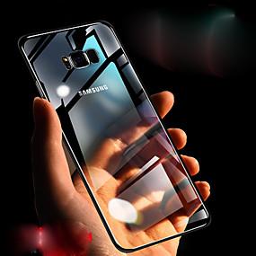halpa Galaxy S -sarjan kotelot / kuoret-Etui Käyttötarkoitus Samsung Galaxy S9 Plus / S8 Läpinäkyvä Takakuori Kimmeltävä Kova TPU varten S9 / S9 Plus / S8 Plus