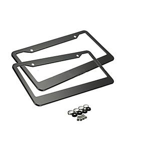 billige Car Front Grille Decoration-sorte køreplader, 2 stk. køreplader af rustfrit stål, dækker et slankt design med skruer til bolte til standard