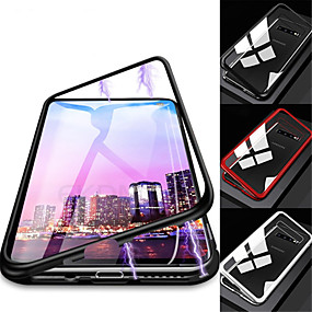 cheap Samsung Accessories-Case For Samsung Galaxy Galaxy S10 / Galaxy S10 Plus Magnetic Full Body Cases Solid Colored Hard Tempered Glass for S9 / S9 Plus / S8 Plus