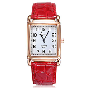 voordelige Quartz horloges-Dames Quartz Horloge Modieus Elegant Zwart Wit Rood PU-leer Kwarts Wit Zwart Rood Vrijetijdshorloge 1 stuks Analoog Een jaar Levensduur Batterij / Roestvrij staal