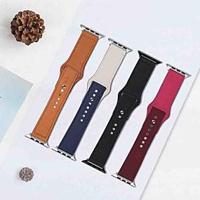 economico Accessori per Apple Watch-Cinturino per orologio  per Apple Watch Series 4 Apple Chiusura moderna Vera pelle Custodia con cinturino a strappo