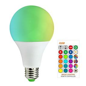 billige LED-smartpærer-1pc 10 W Smart LED-lampe 200-800 lm E26 / E27 A80 6 LED Perler SMD 5050 Smart Dæmpbar Fjernstyret RGBW 85-265 V / RoHs