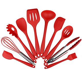 ieftine Ustensile Bucătărie & Gadget-uri-10pcs non-stick bucătărie silicon rezistente la căldură bucătărie de gătit ustensile de copt instrument de gătit seturi de unelte