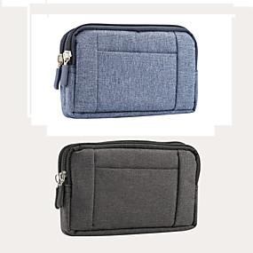ราคาถูก เคสสำหรับ iPhone-Case สำหรับ Blackberry / Apple / Samsung Galaxy Universal Card Holder กระเป๋าสะพายเอว สีพื้น Soft สิ่งทอ สำหรับ Universal