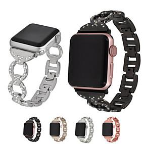 abordables Accessoires Apple-Bracelet de Montre  pour Apple Watch Series 4/3/2/1 Apple Boucle Moderne Métallique / Acier Inoxydable Sangle de Poignet